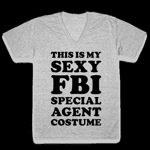 Sexy FBI Special Agent V-Neck Tee Shirt