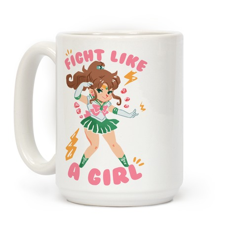 Fight Like A Girl: Jupiter Parody Coffee Mug
