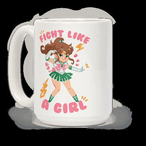 Fight Like A Girl: Jupiter Parody Coffee Mug