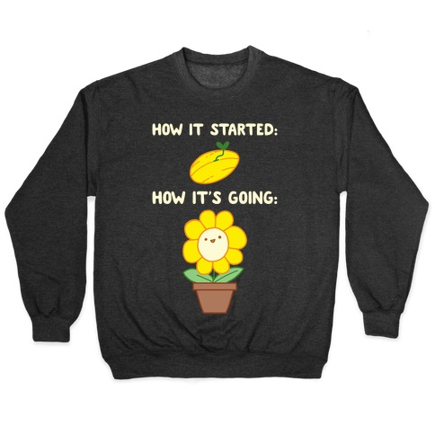How It Started and How It's Going Flower Pullover