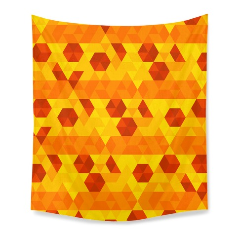 Geometric Pizza Tessellation Tapestry