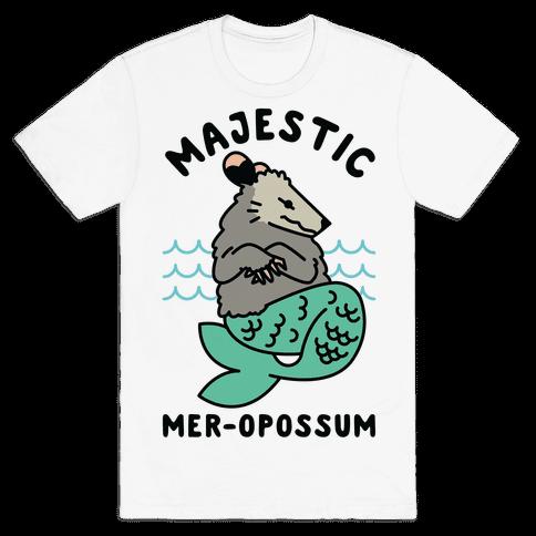 Majestic Mer-Opossum Mens T-Shirt