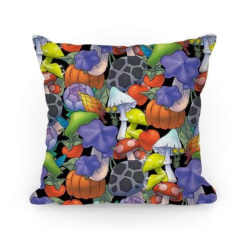 Hylian Shrooms and Veggies Pillow