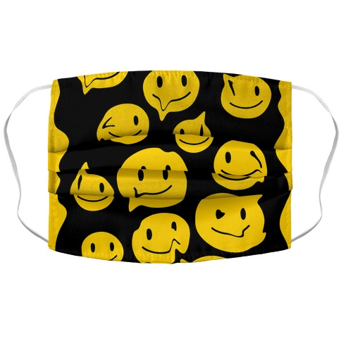 Melting Smiley Faces Accordion Face Mask