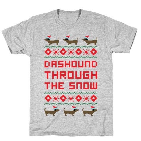 Dashound Through the Snow T-Shirt
