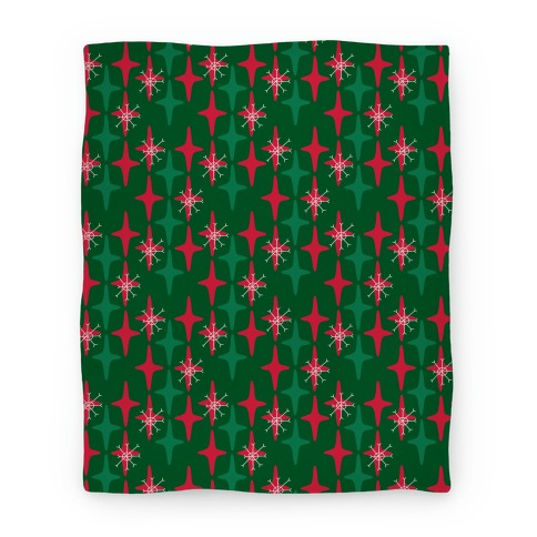 Retro Christmas Sparkle Pattern Blanket