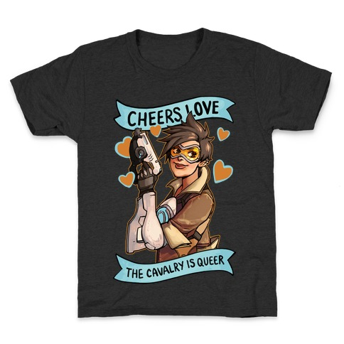 Cheers Love The Cavalry Is QUeer Kids T-Shirt