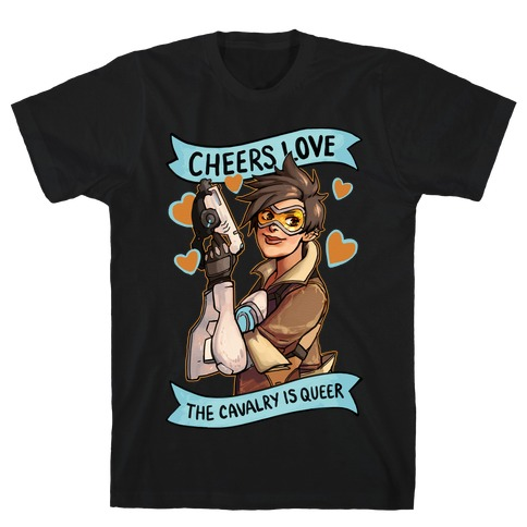 Cheers Love The Cavalry Is QUeer Mens T-Shirt