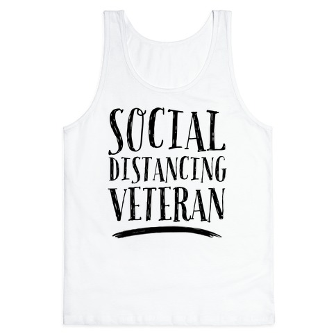 Social Distancing Veteran Tank Top
