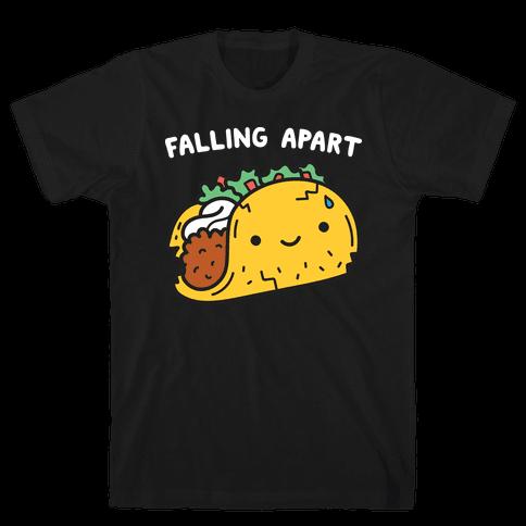 Falling Apart Taco Mens T-Shirt