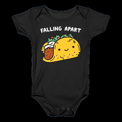 Falling Apart Taco Baby Onesy