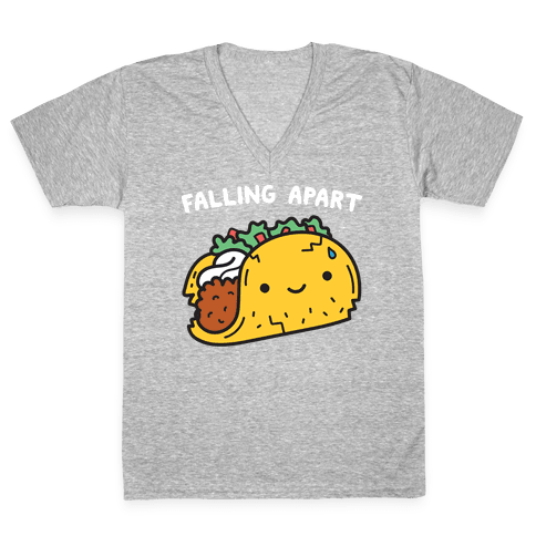 Falling Apart Taco V-Neck Tee Shirt