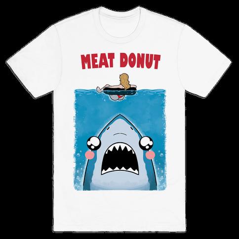 Meat Donut Jaws Parody Mens/Unisex T-Shirt