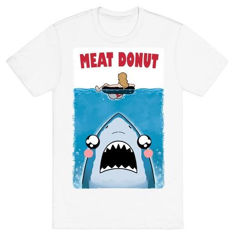 Meat Donut Jaws Parody T-Shirt