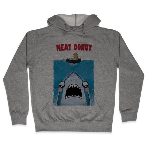 Meat Donut Jaws Parody Hooded Sweatshirt