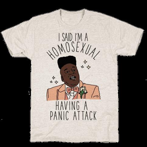 Homosexual Having a Panic Attack Mens T-Shirt