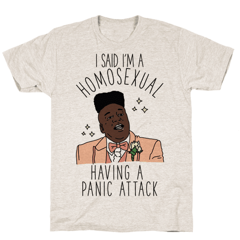 Homosexual Having a Panic Attack Mens T-Shirt