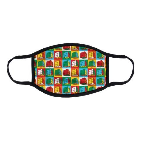 Rubix Cubes Pattern Flat Face Mask