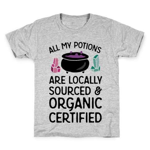 All My Potions Are Organic Witch Kids T-Shirt