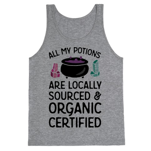All My Potions Are Organic Witch Tank Top