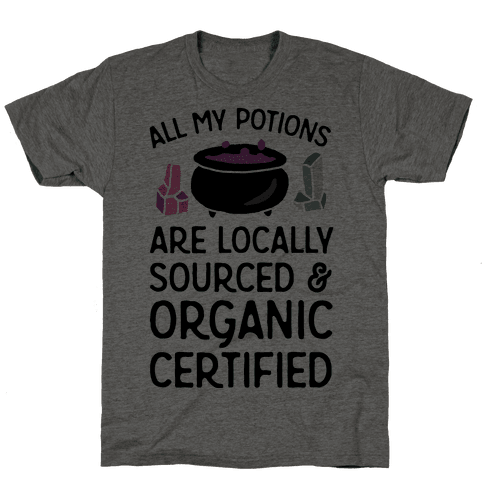 All My Potions Are Organic Witch Mens T-Shirt