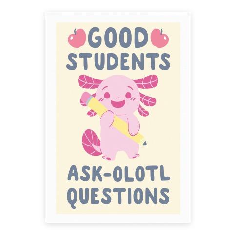 Good Students Axolotl Questions Poster