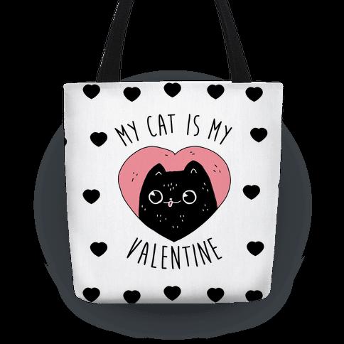 My Cat is My Valentine Tote