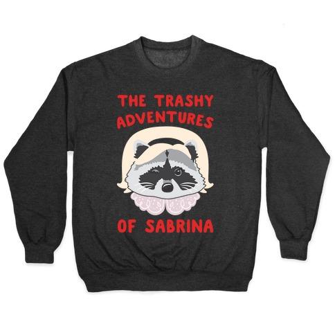 The Trashy Adventures of Sabrina Parody White Print Pullover