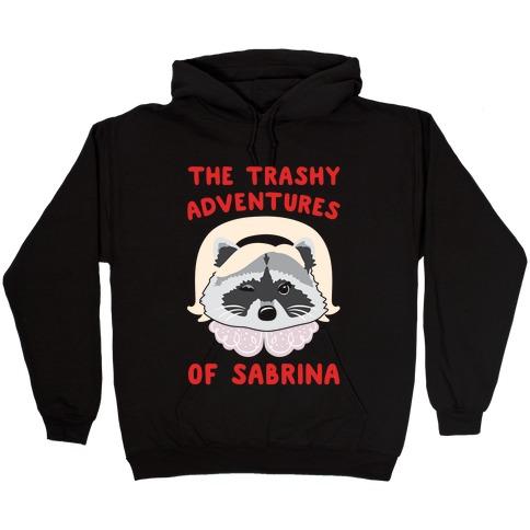 The Trashy Adventures of Sabrina Parody White Print Hooded Sweatshirt
