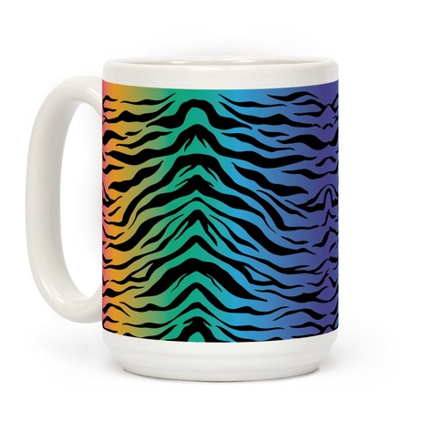 Tiger Stripe Rainbow 90s Pattern Coffee Mug