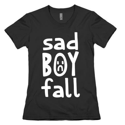 Sad Boy Fall Womens T-Shirt