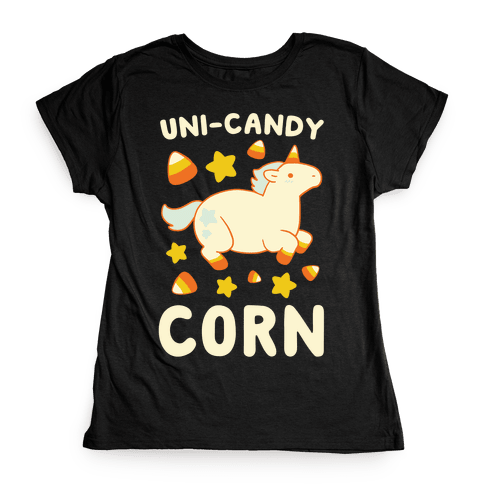 Uni-Candy Corn Womens T-Shirt