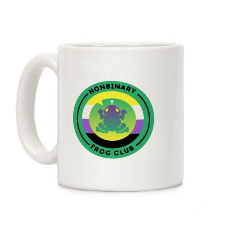 Non Binary Frog Club Patch Coffee Mug