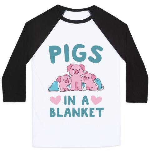 Pigs in a Blanket Baseball Tee