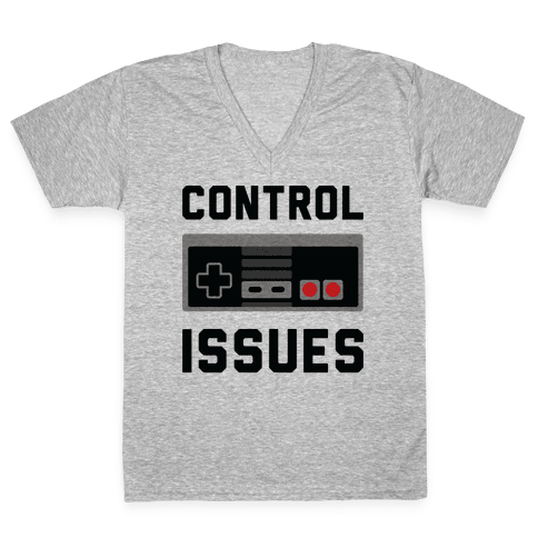 Control Issues V-Neck Tee Shirt