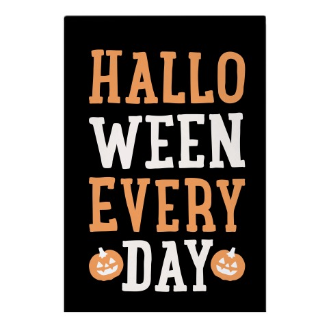Halloween Every Day (White) Garden Flag