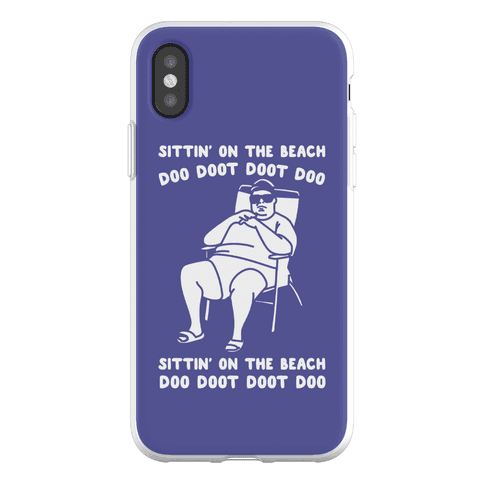 Sittin' On The Beach Chris Christie Parody Phone Flexi-Case
