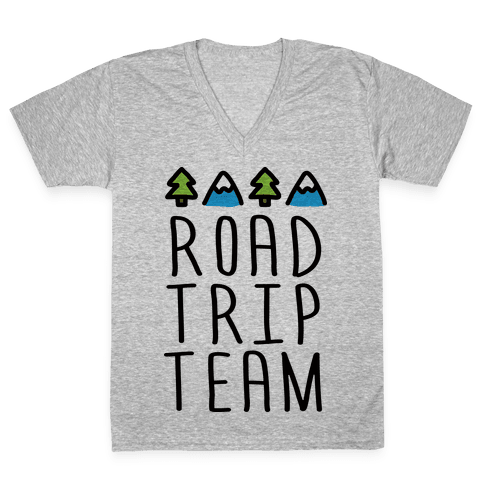Road Trip Team V-Neck Tee Shirt