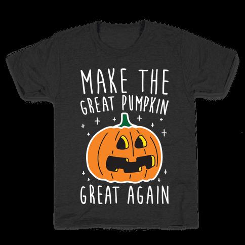 Make The Great Pumpkin Great Again Kids T-Shirt