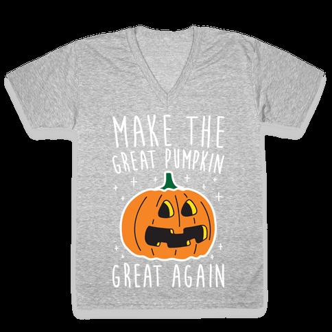 Make The Great Pumpkin Great Again V-Neck Tee Shirt