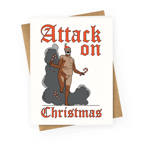 Attack On Christmas Greeting Card