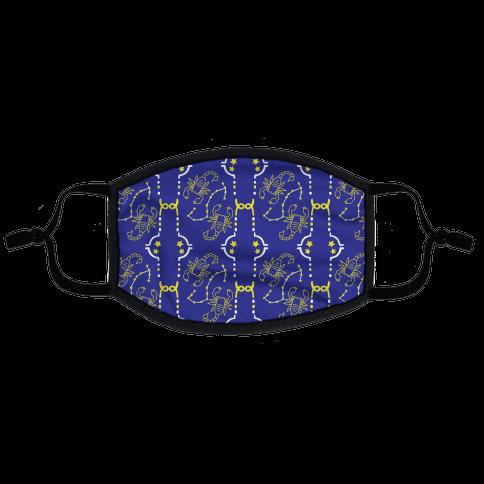 Scorpio Stars Pattern Flat Face Mask