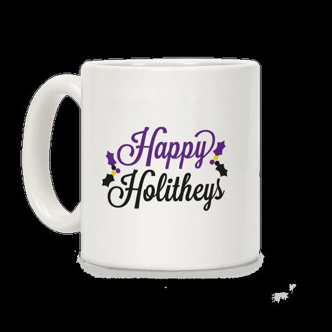 Happy Holitheys! Non-binary Holiday Coffee Mug