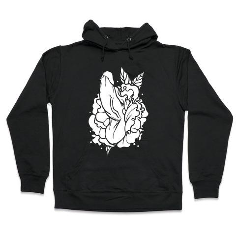 Floral Penis Hooded Sweatshirt