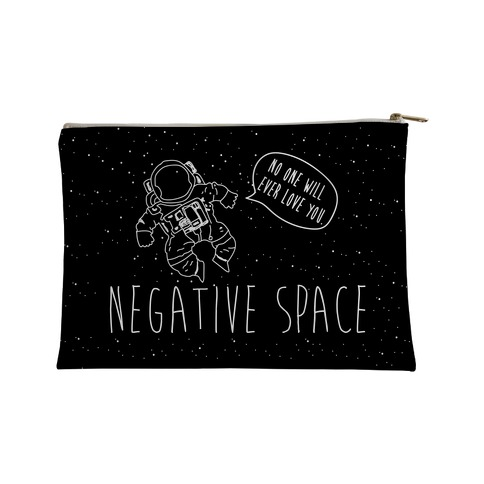 Negative Space Man Accessory Bag