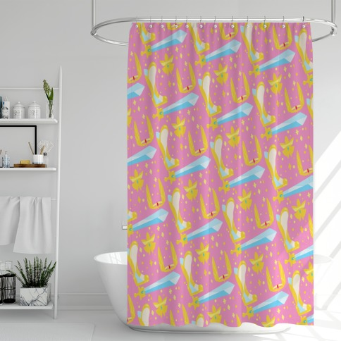 It's Dangerous To Go Alone Take These She-Ra Parody Shower Curtain