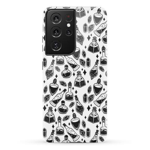 Black On White Potions Pattern Phone Case