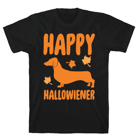 Happy Hallowiener Dachshund Parody White Print Mens T-Shirt