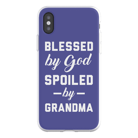 Blessed By God Spoiled By Grandma Phone Flexi-Case