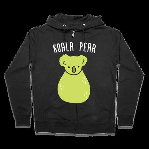 Koala Pear Zip Hoodie